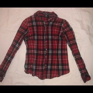 Tops - Red/Black/White Flannel
